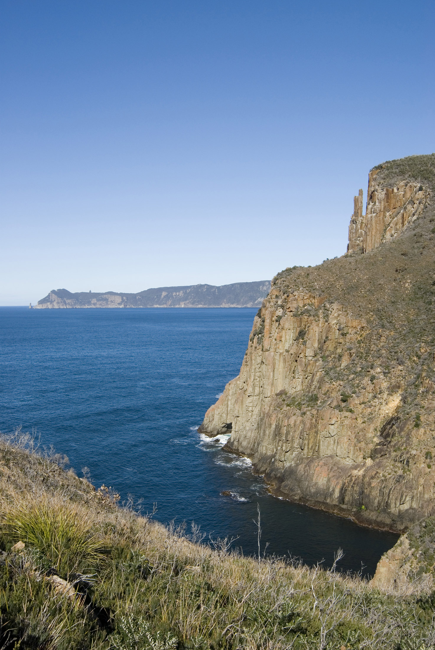 a view of cape pillar as seen from cape hauy, tasman peninsula