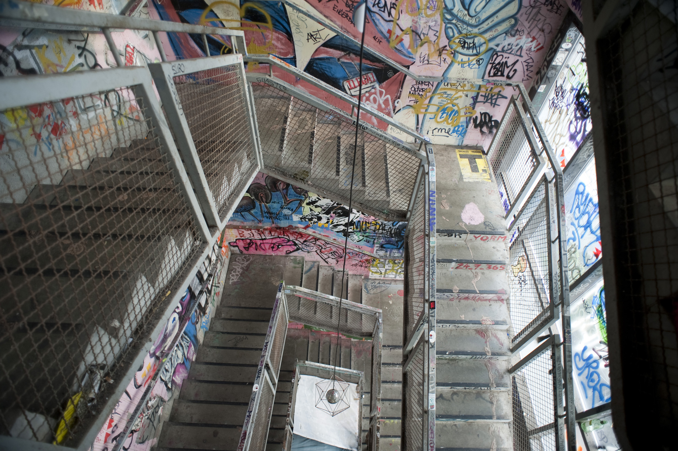one of the staircases in the former berlin art squat, Kunsthaus Tacheles