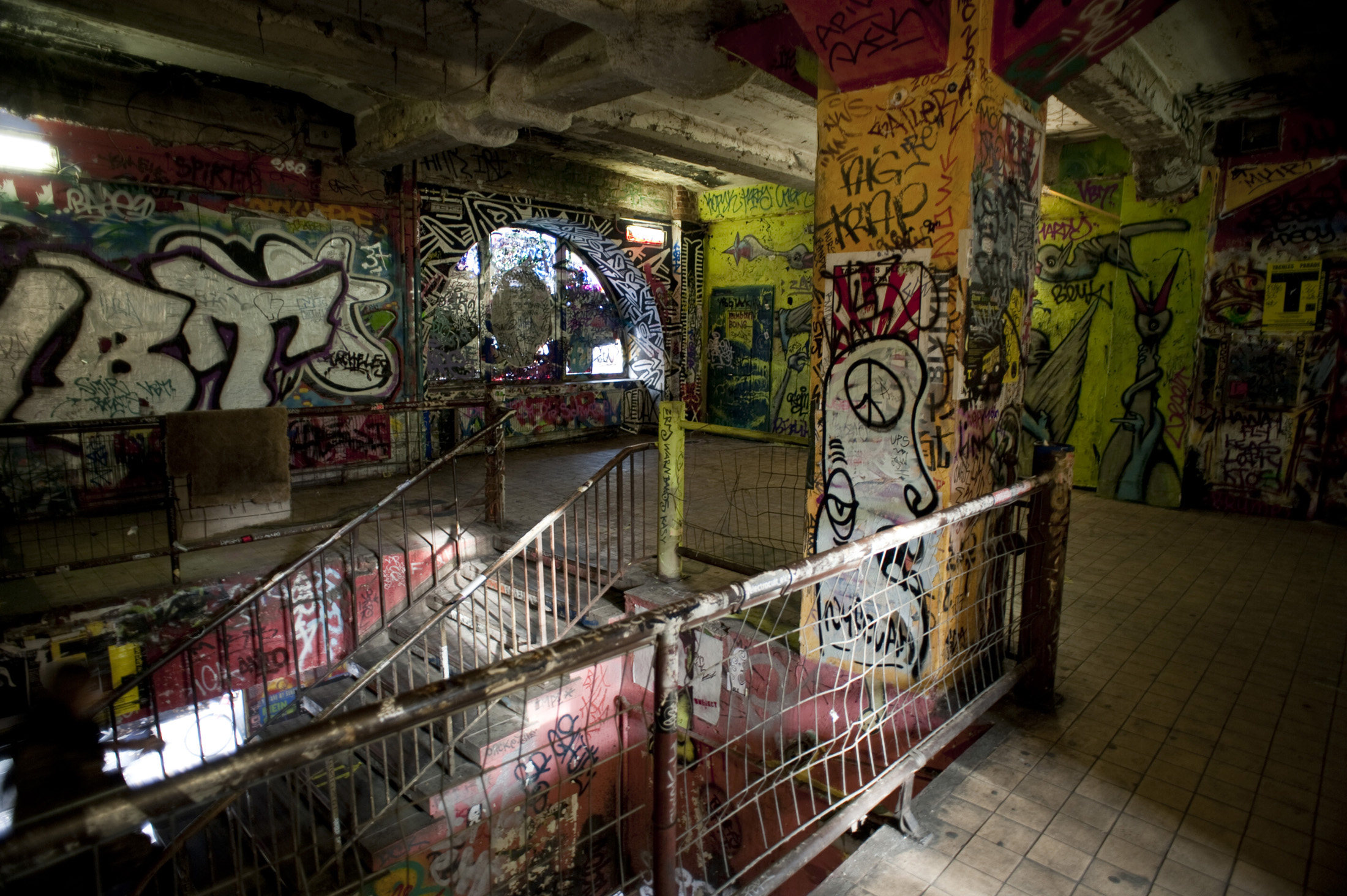 graffiti stairs at Kunsthaus Tacheles, Berlin, Germany