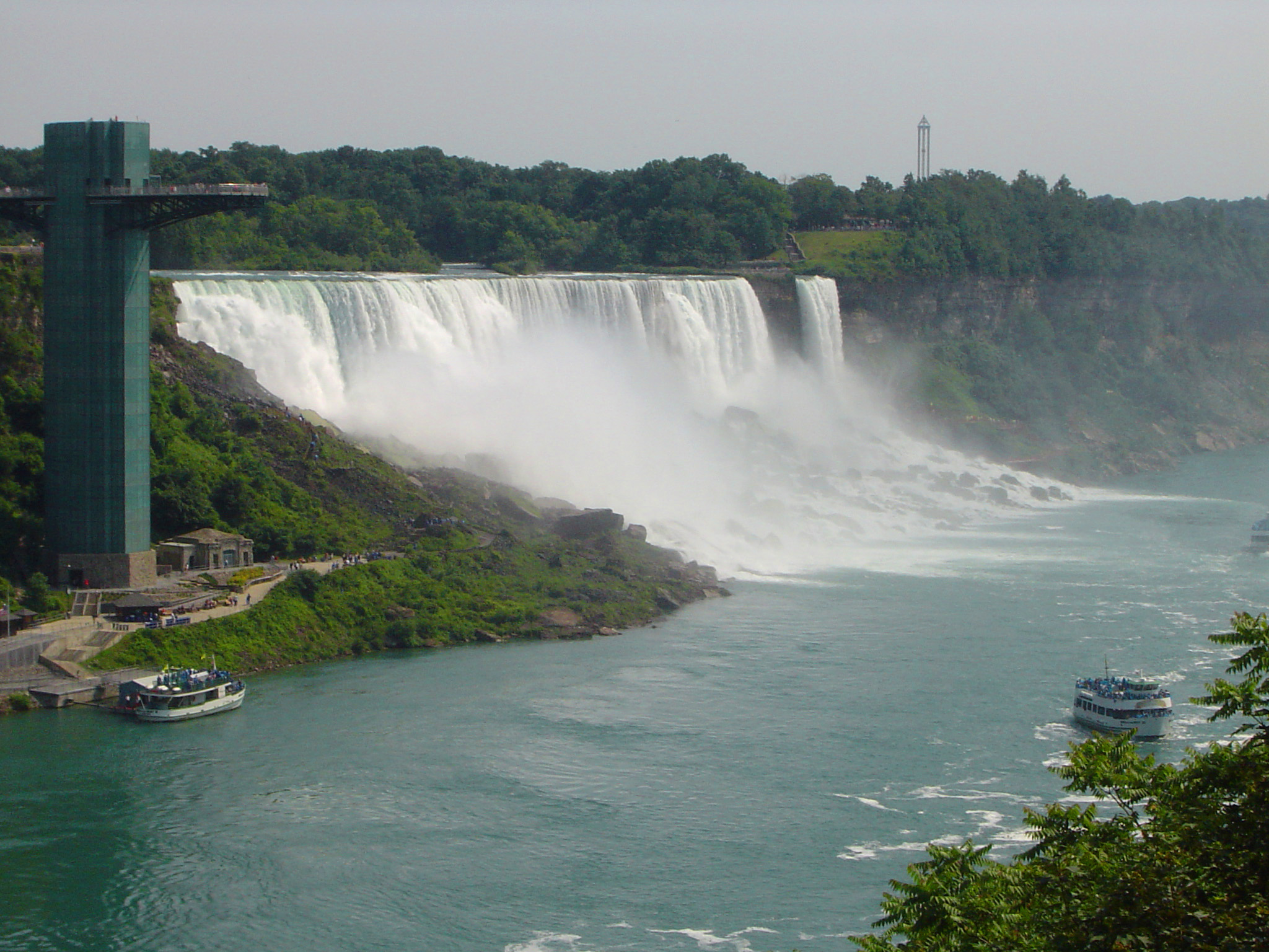 Overview of American Falls at Niagara Falls