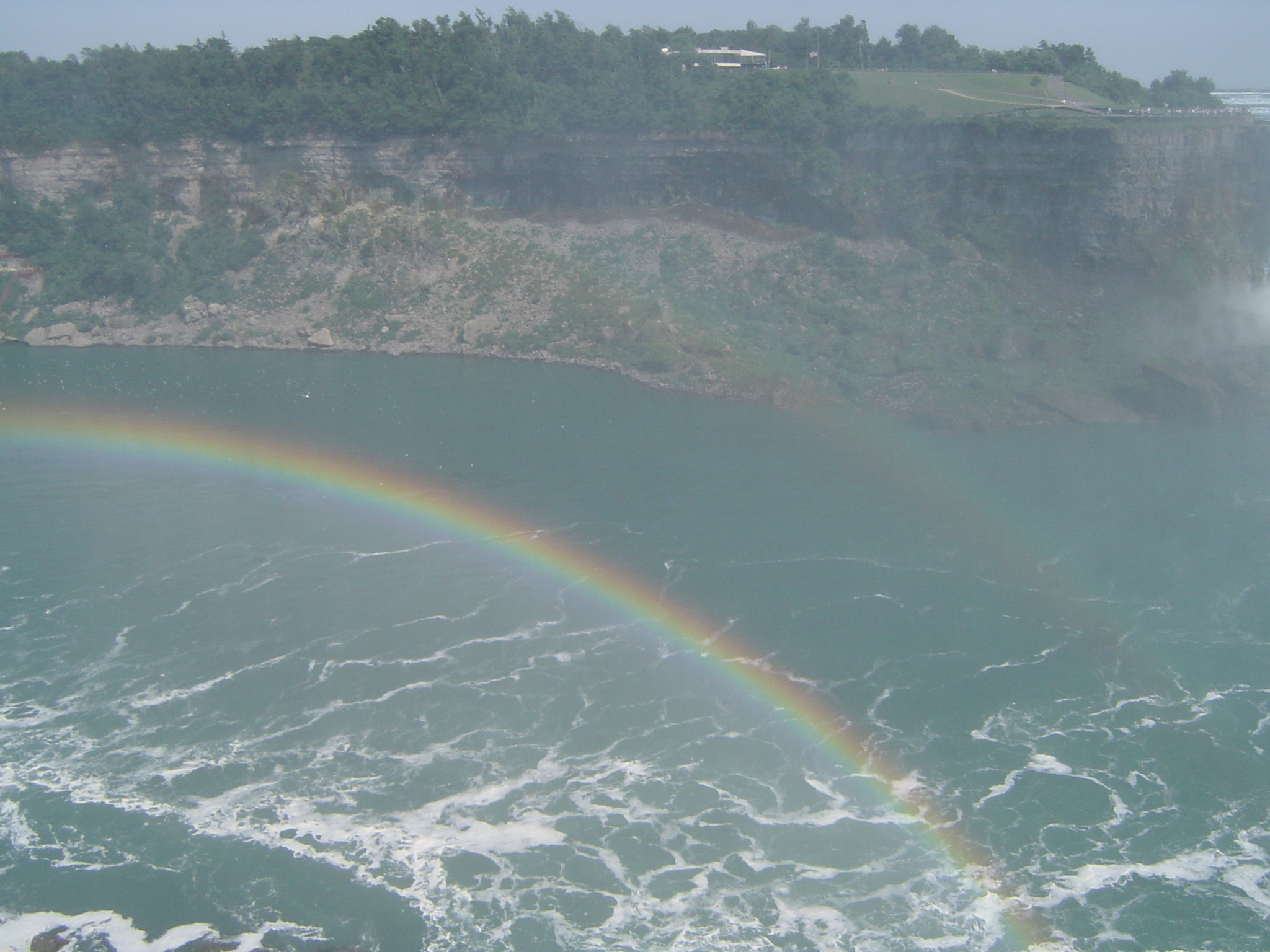 Overview of Rainbow in Mist at Niagara Falls