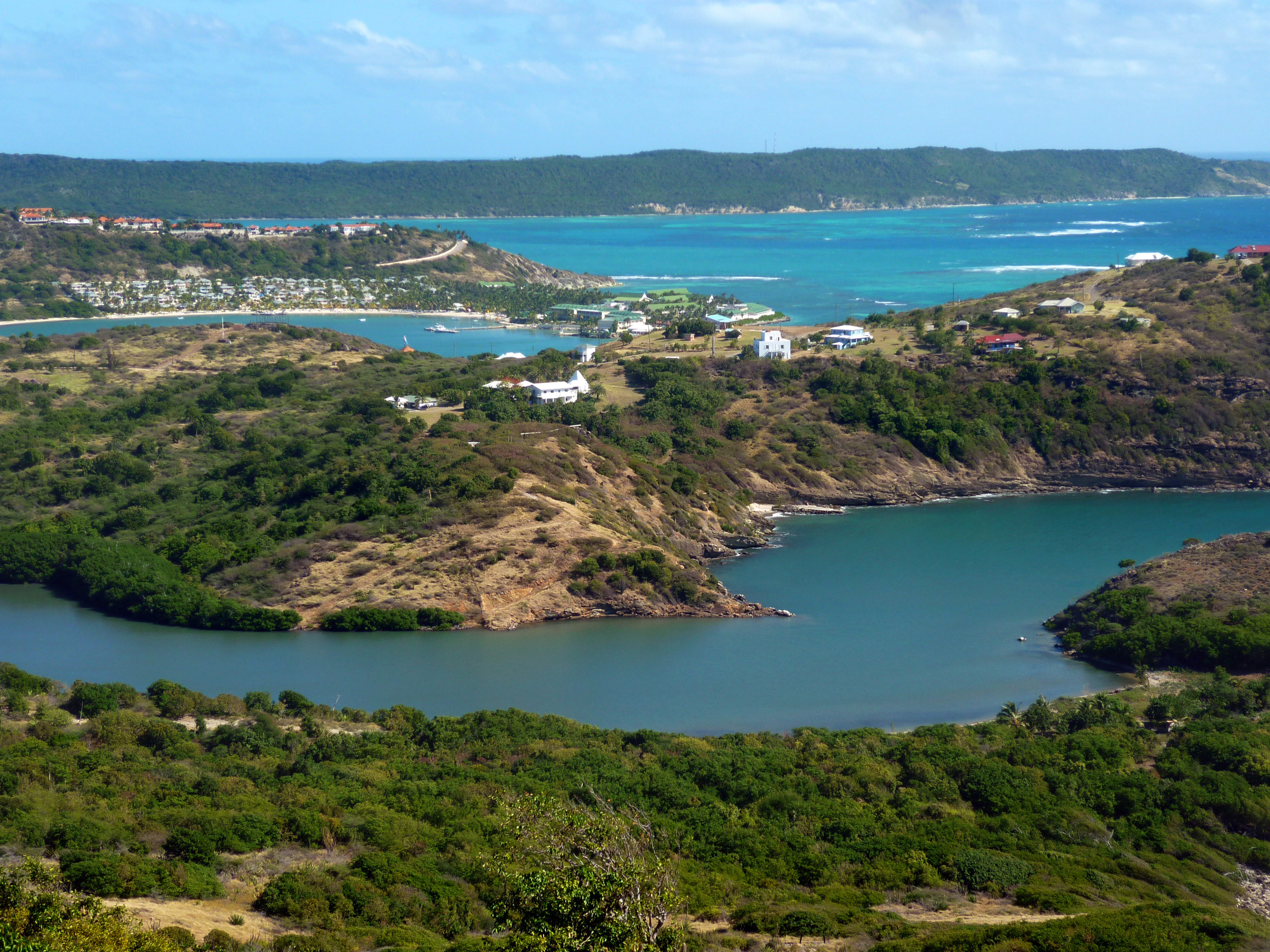 a view of the island of antigua