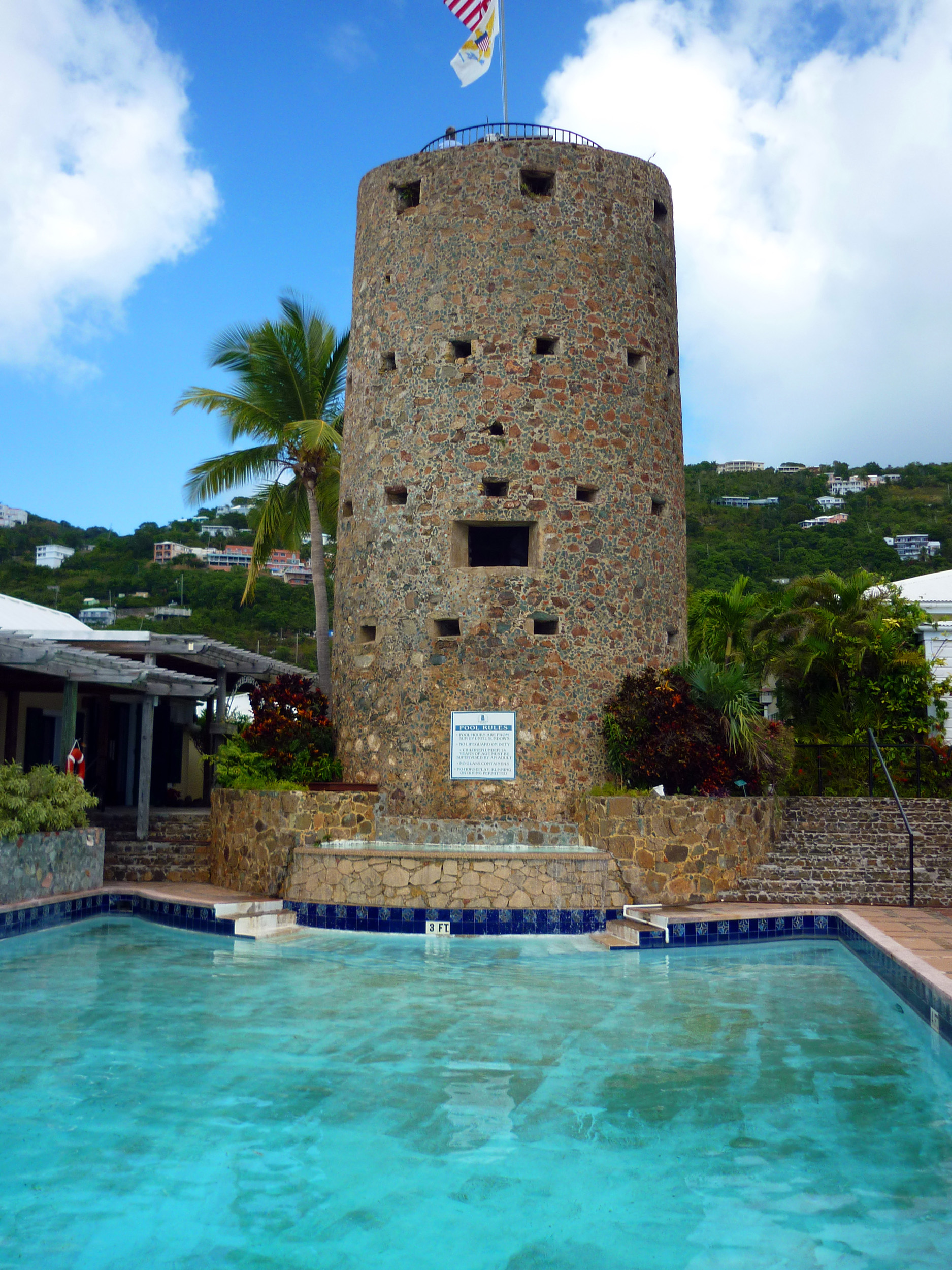 tower of pirate blackbeards castle, charlotte amalie, US vigrin islands