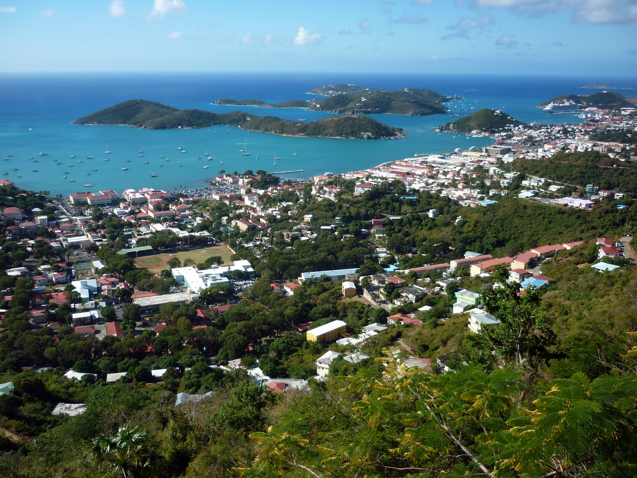 pictures caribbean town of charlotte amalie, capital of st thomas and the us virgin islands