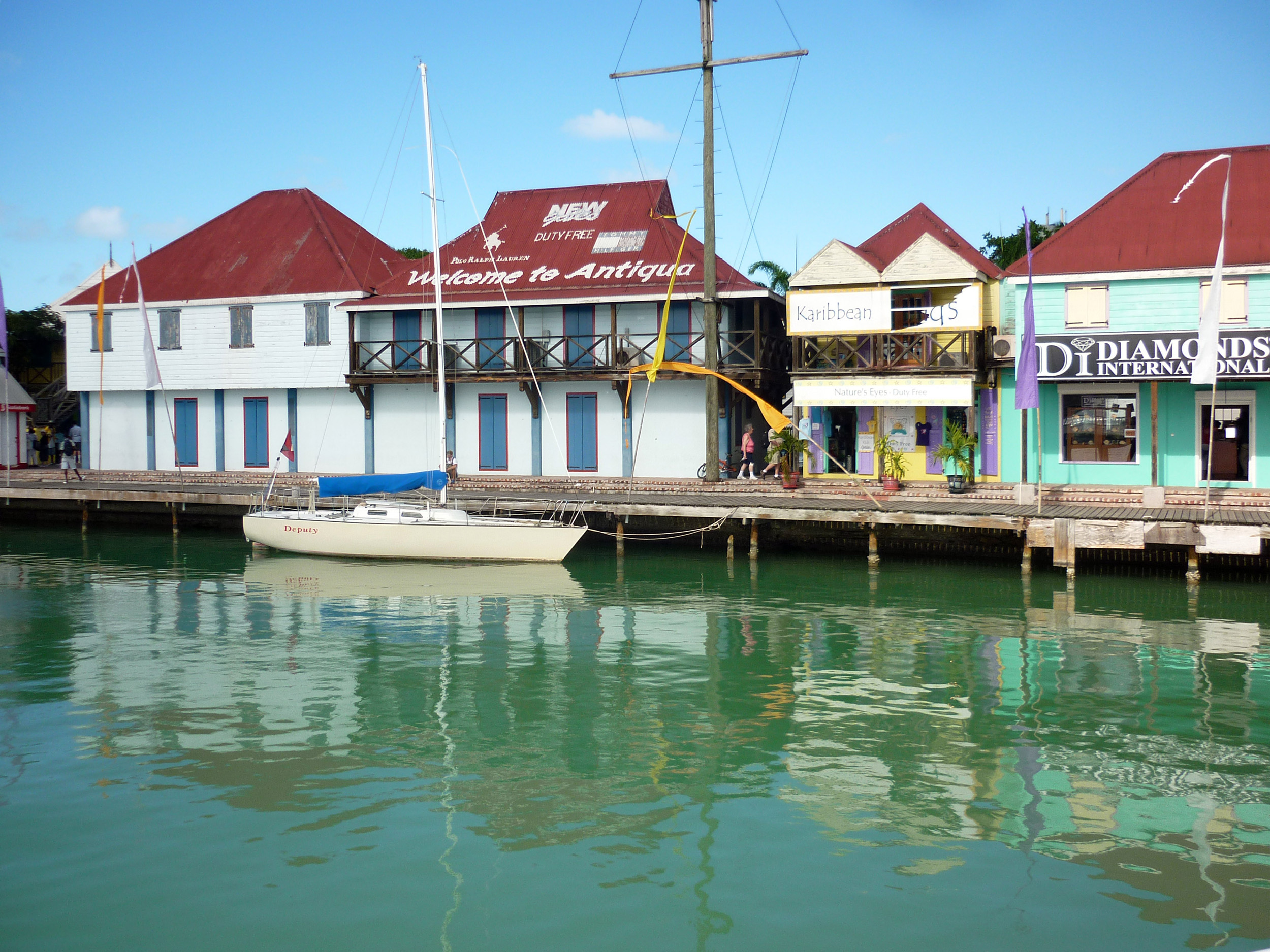 water front of the old port in st johns antigua