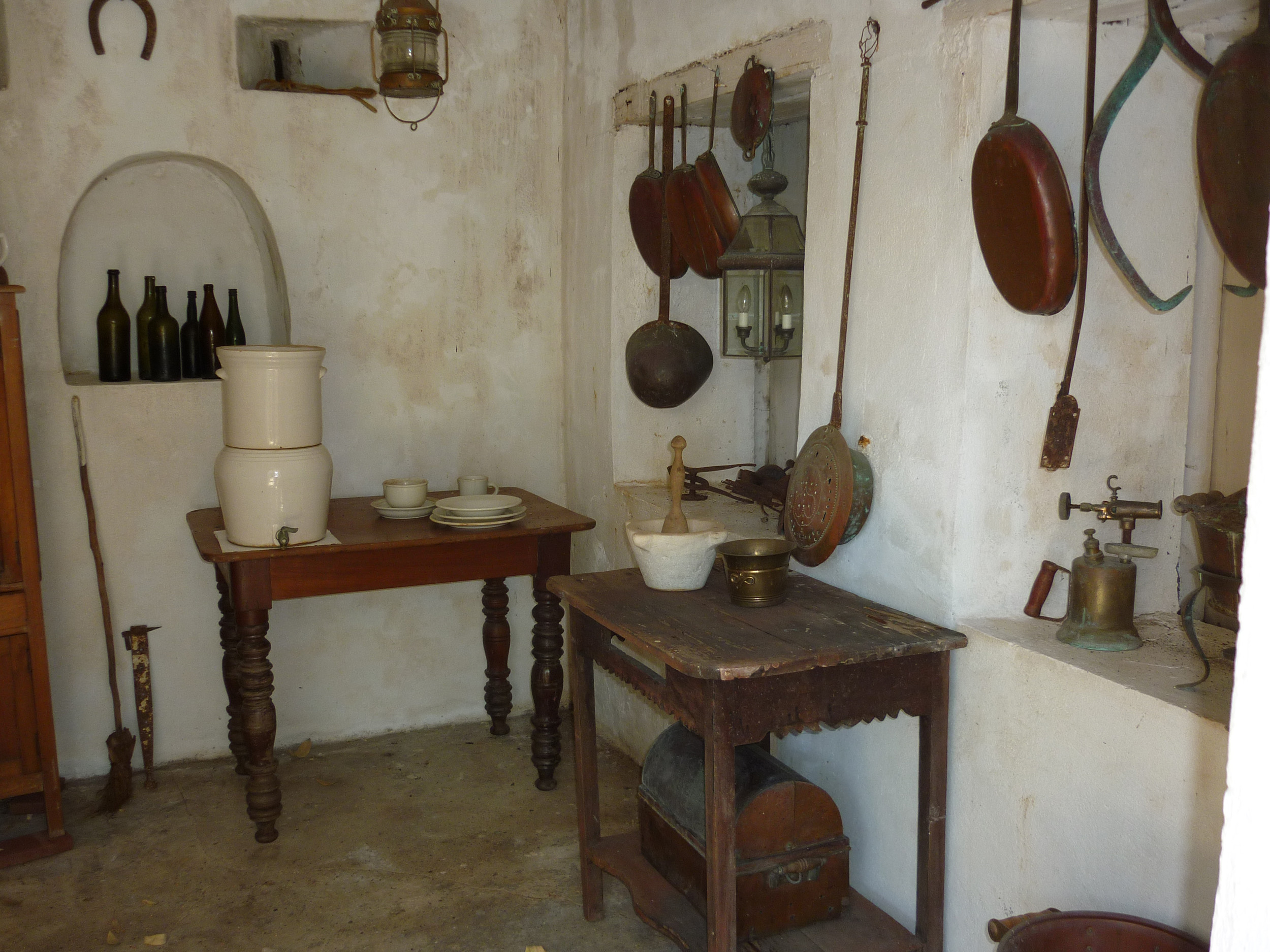 interior of an old still kitchen