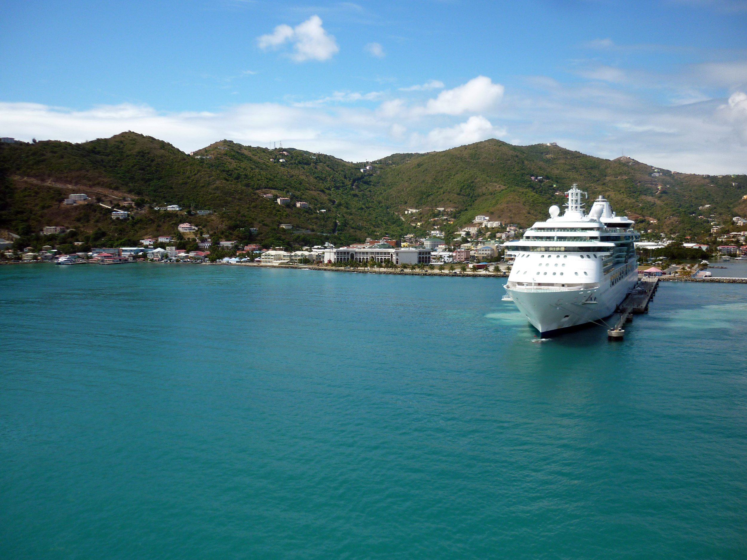 a boat in the harbour at road town, tortola, british virgin islands