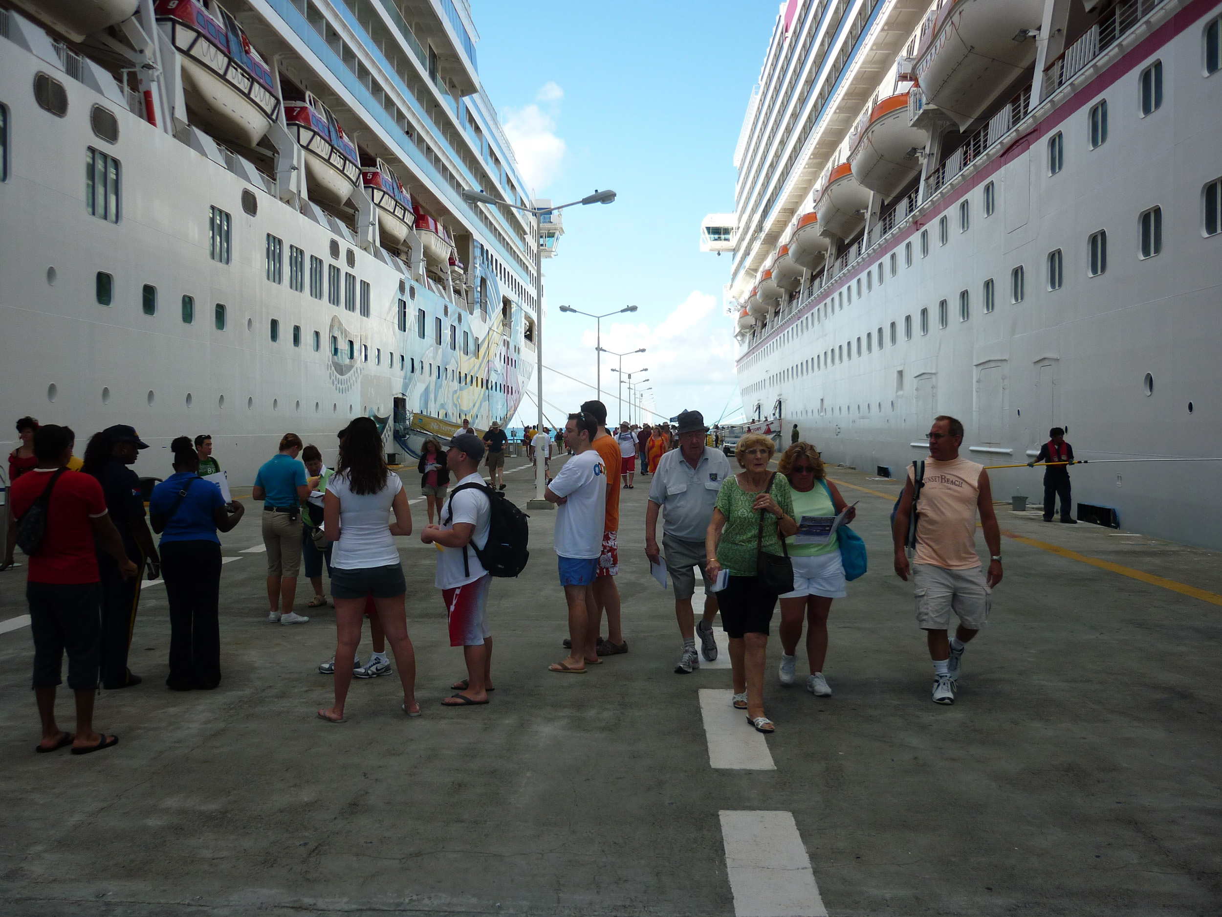 passengers boarding a cruise ship