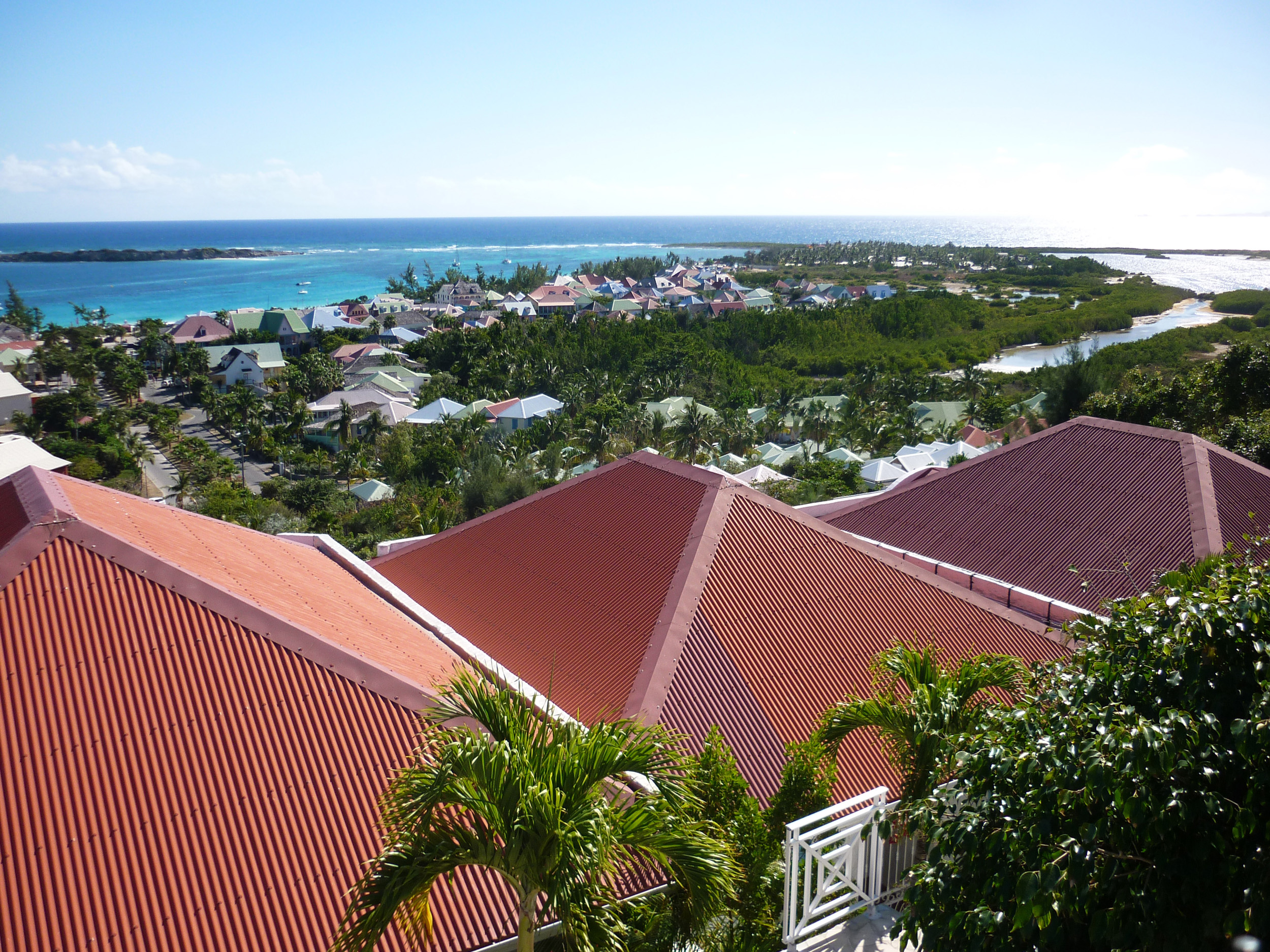 a roof top view on the island of st martin