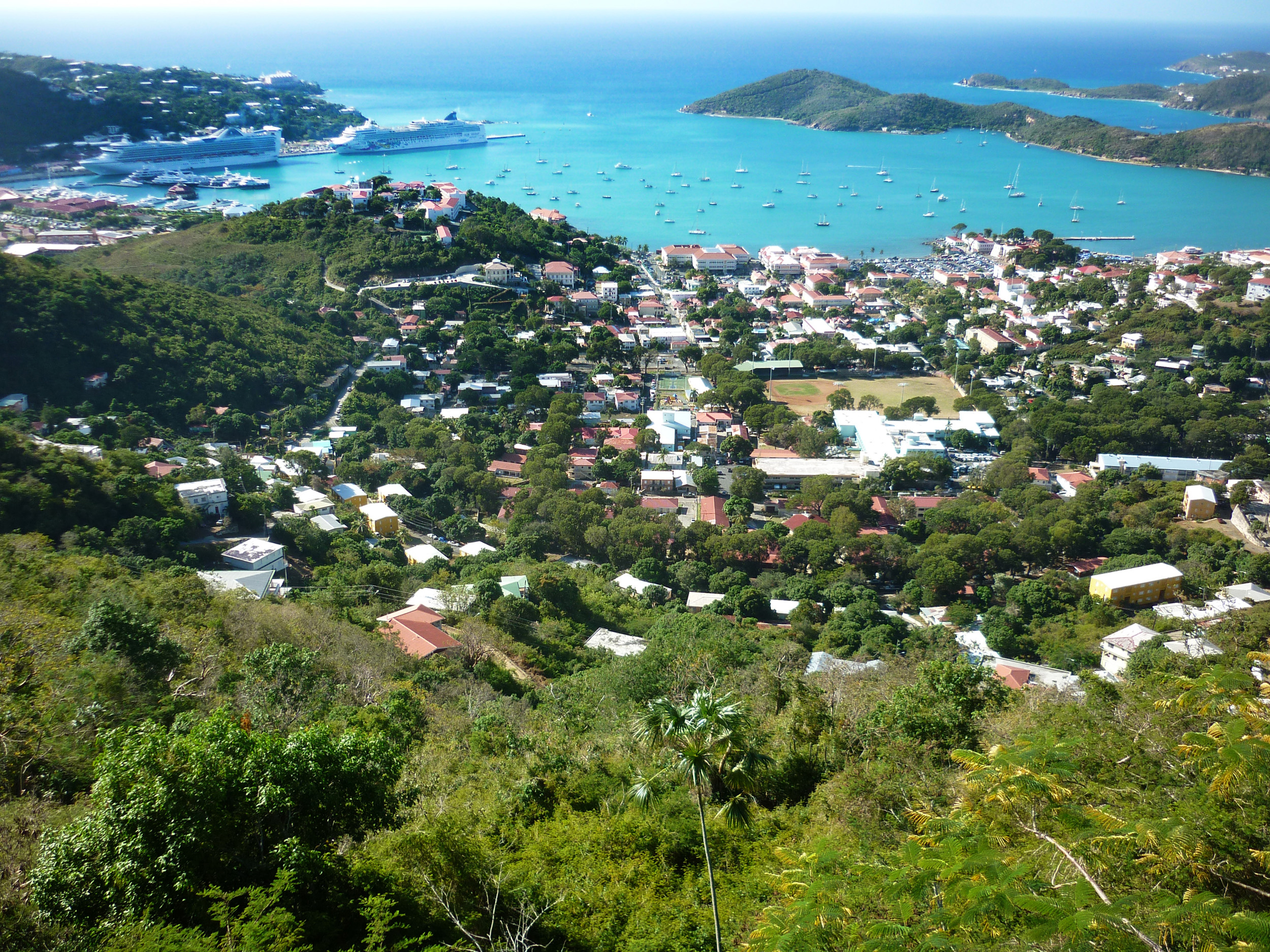 the capital of the islands of st thomas, charlotte amalie