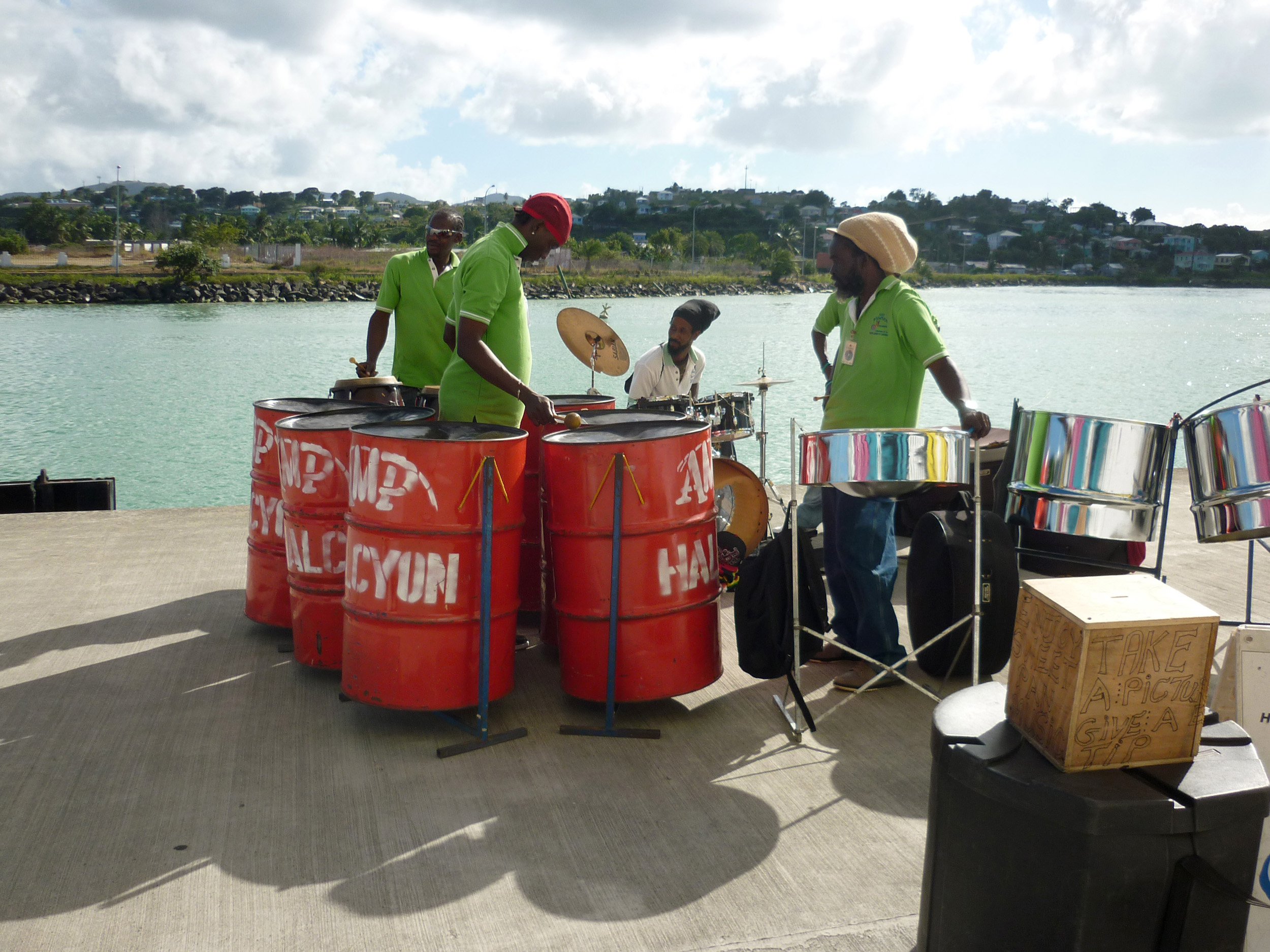 a steel band on the island of st thomas, us virgin islands
