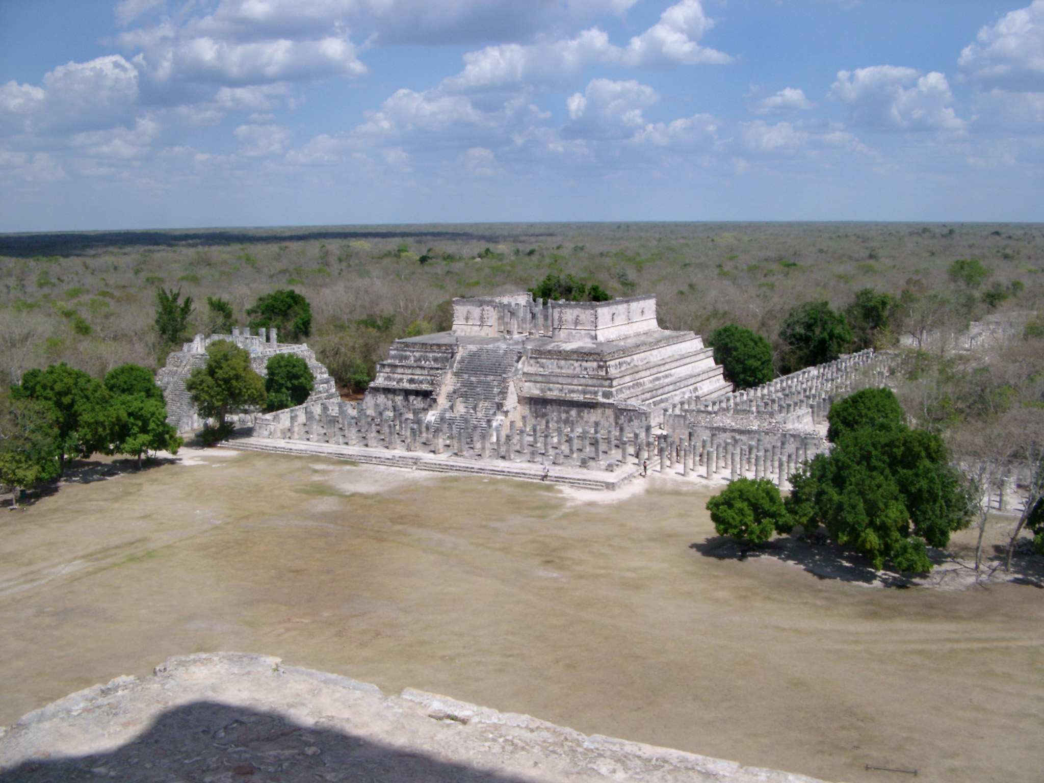 Temple of the Warriors, Chitzen Itza, Yucatan Peninsula, Mexico an important archaeological site with extensive Mayan ruins