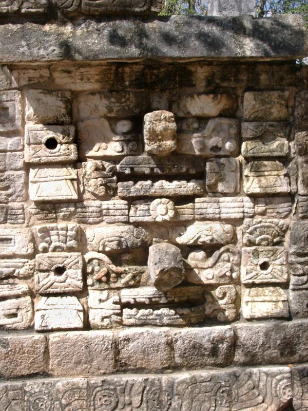 Free stock photo of old carved stone wall in chitzen itza