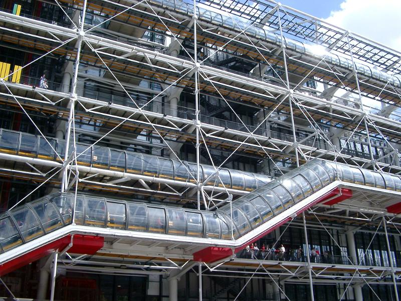Free stock photo of exterior of centre georges pompidou in - Centre george pompidou architecture ...