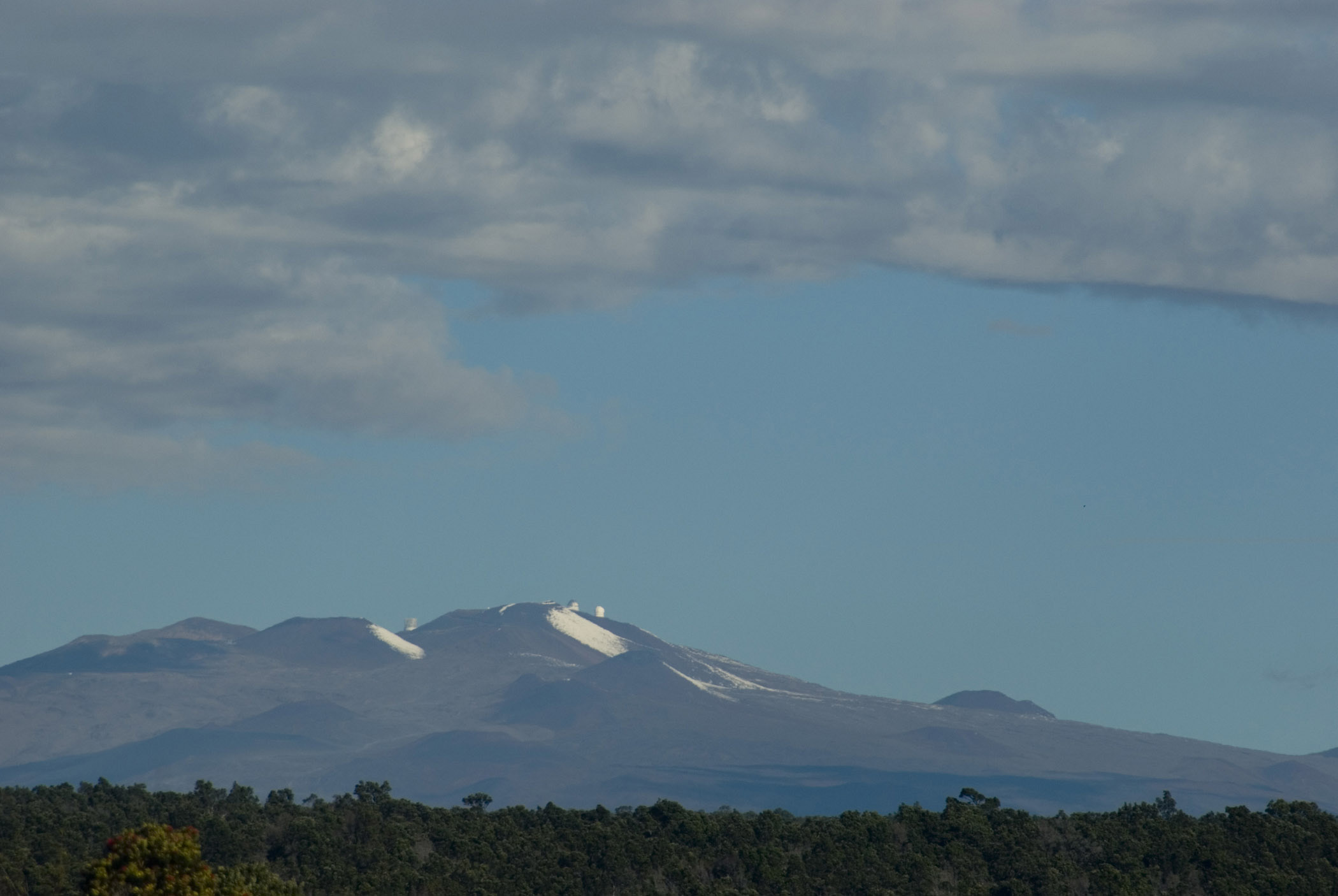 View of Mauna Kea, Hawaii, the highest mountain on which there is an astronomical observatory