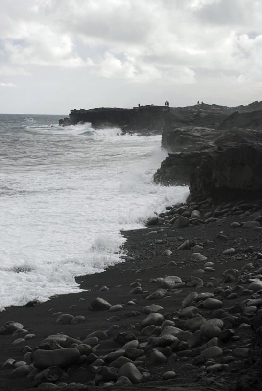 Free Stock Photo Of Gray Scale Beautiful Kalapana Beach