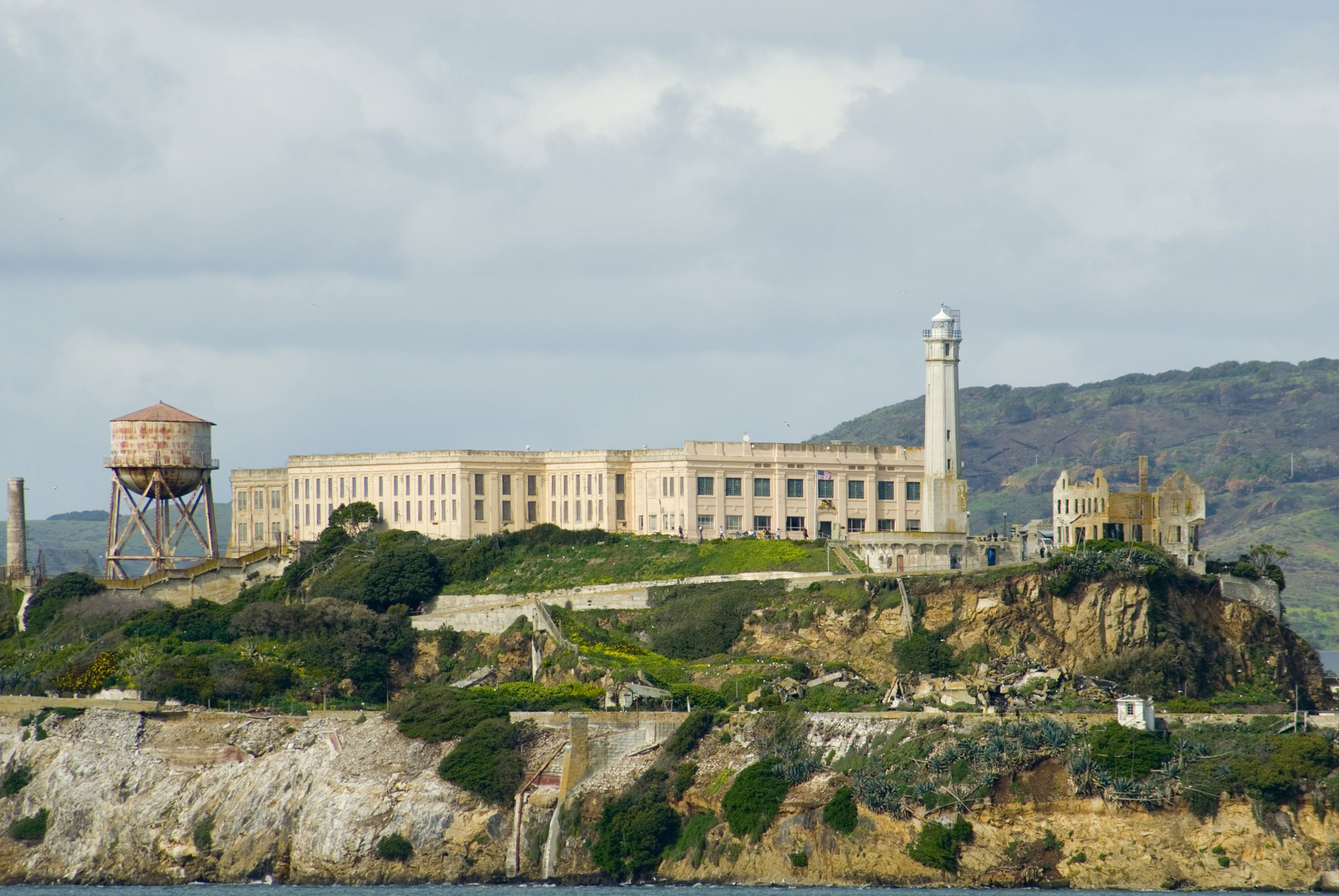 free stock photo of fortified prison on alcatraz island