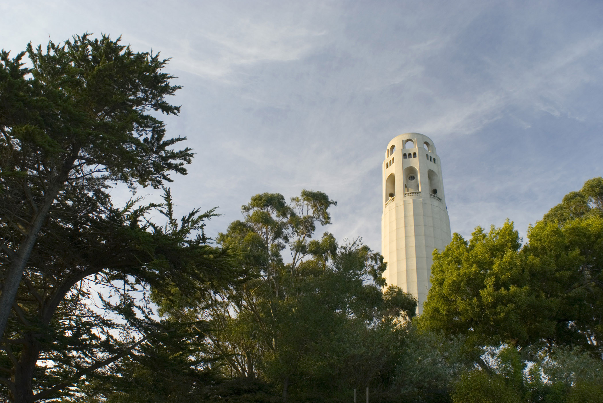 Coit Tower, Telegraph Hill , San Franciso, a memorial to Lilian Coit who left part of her estate for the beautification of the city