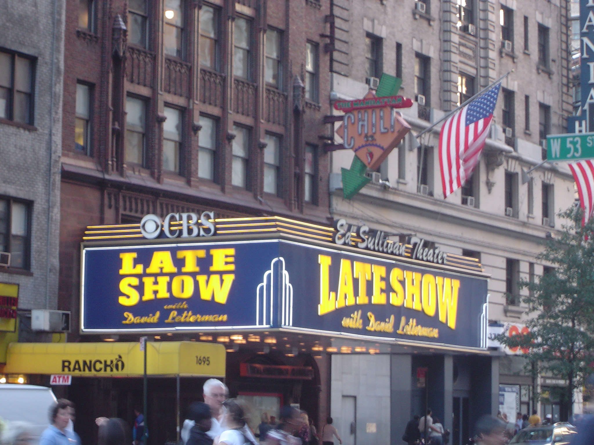 Late Show with David Letterman at Old Vintage Ed Sullivan Theater, where the Late Show is taped