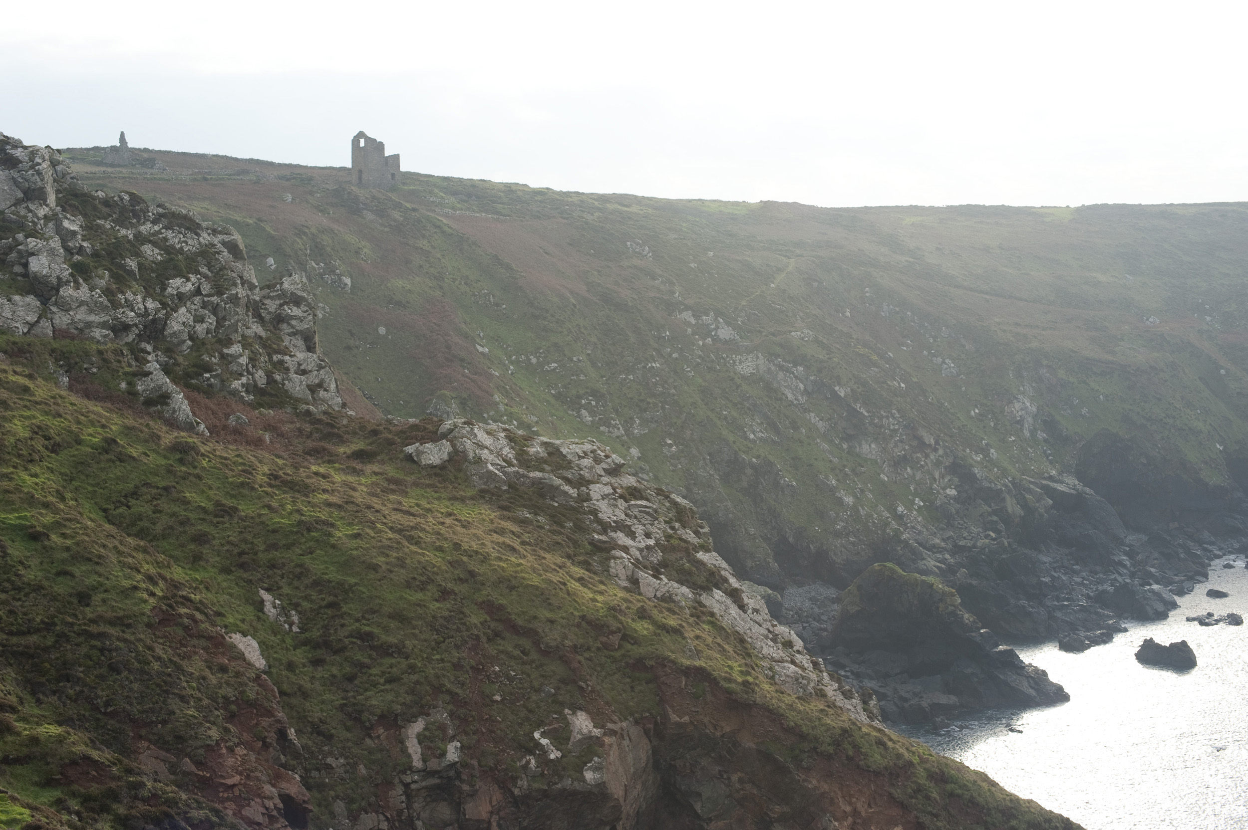 mine ruins perched high on cliffs over the atlantic, Part of the Cornwall Mining Landscape World Heritage Area