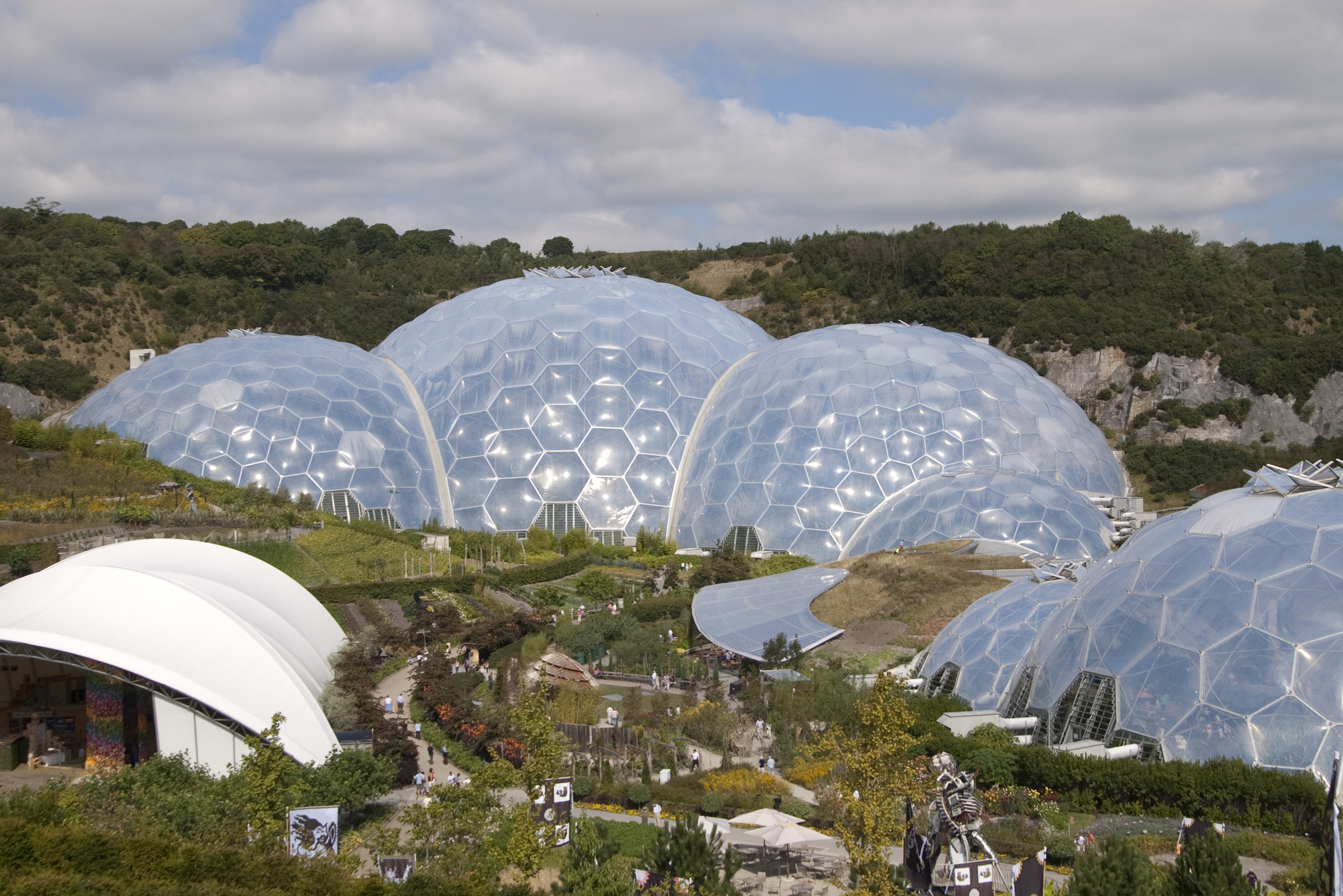 giant domes of the eden project, cornwall