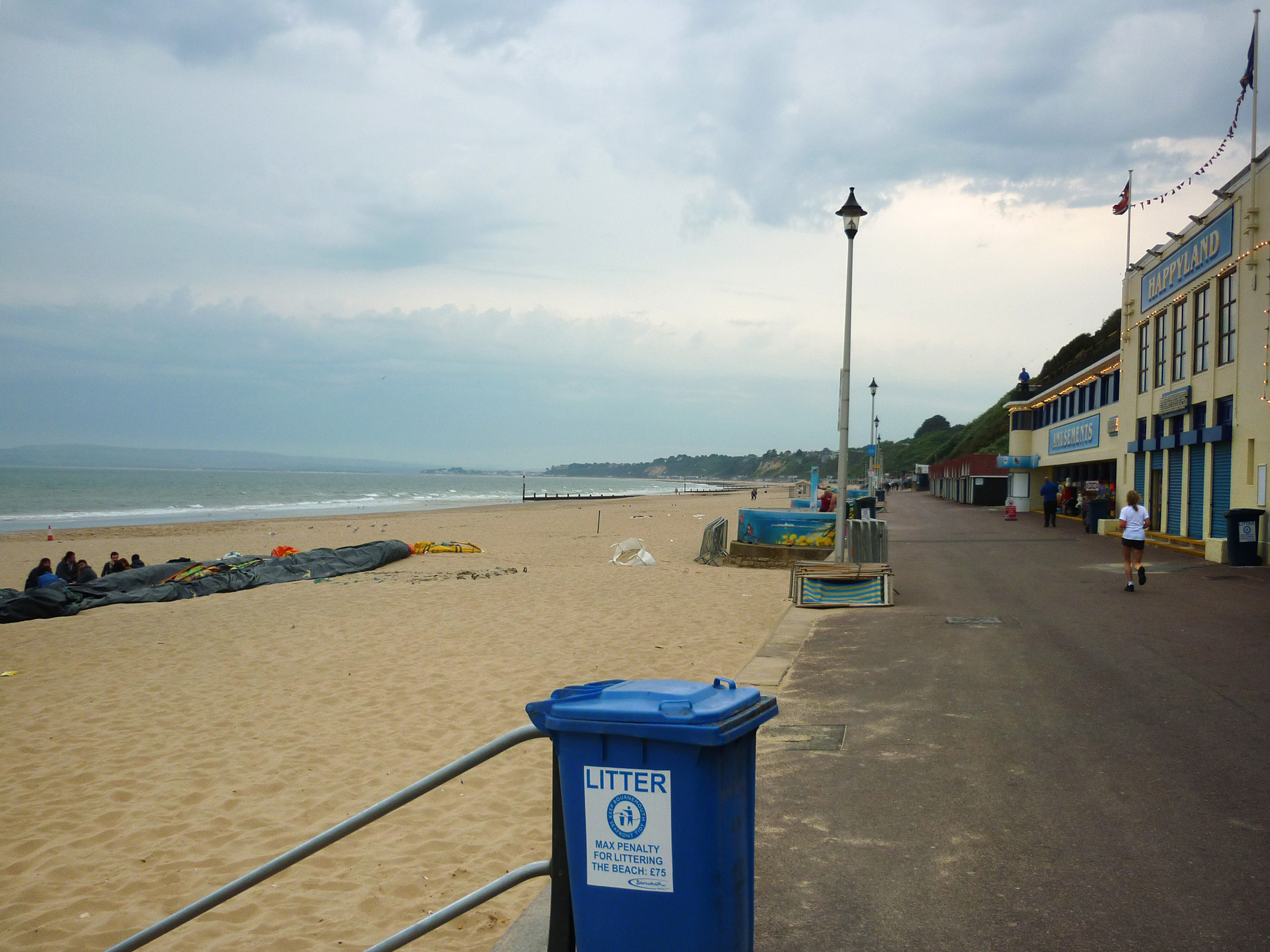 promenade and beach front at bournemouth, dorset,