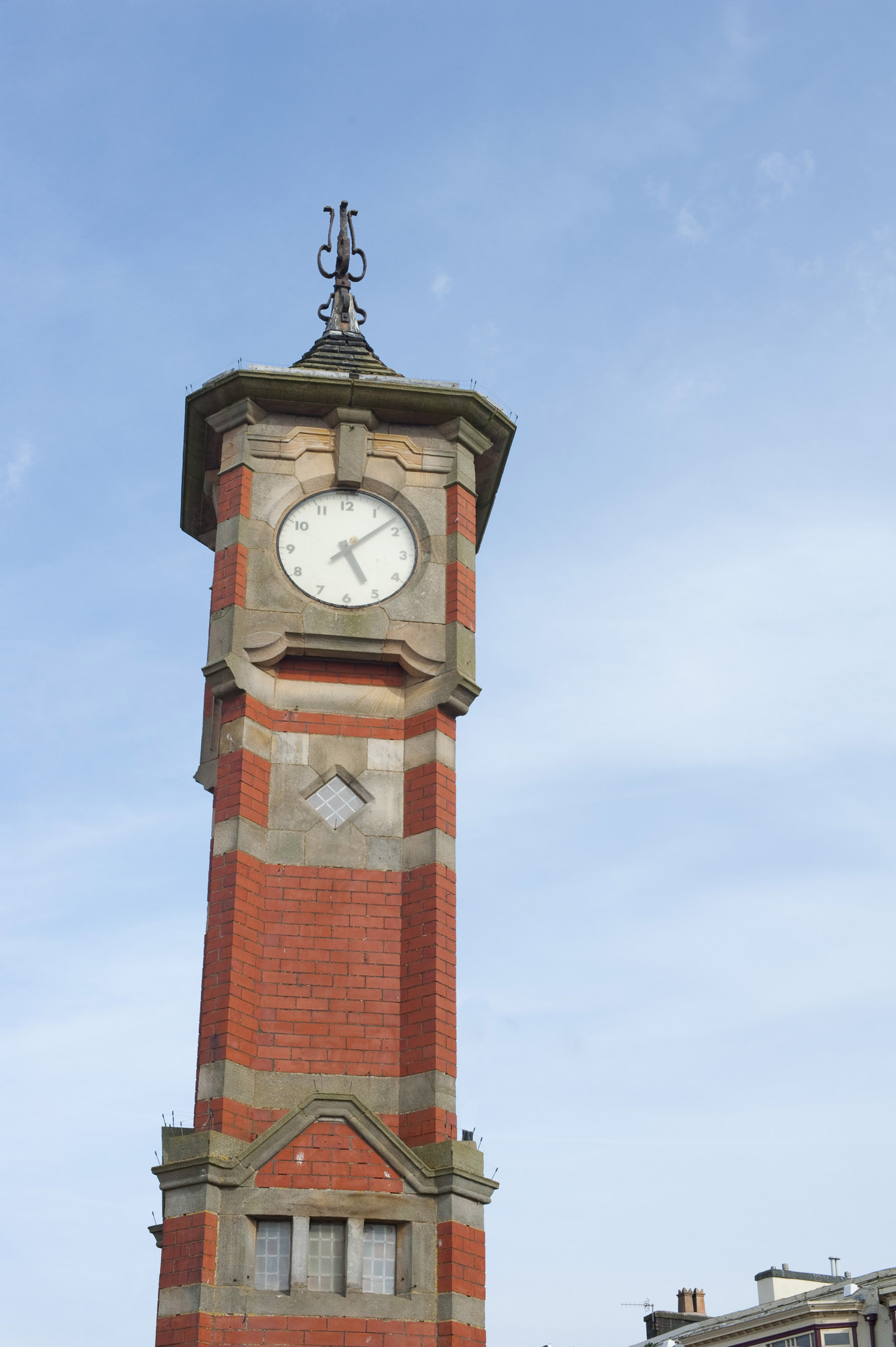 landmark clock tower on morecambe seafront