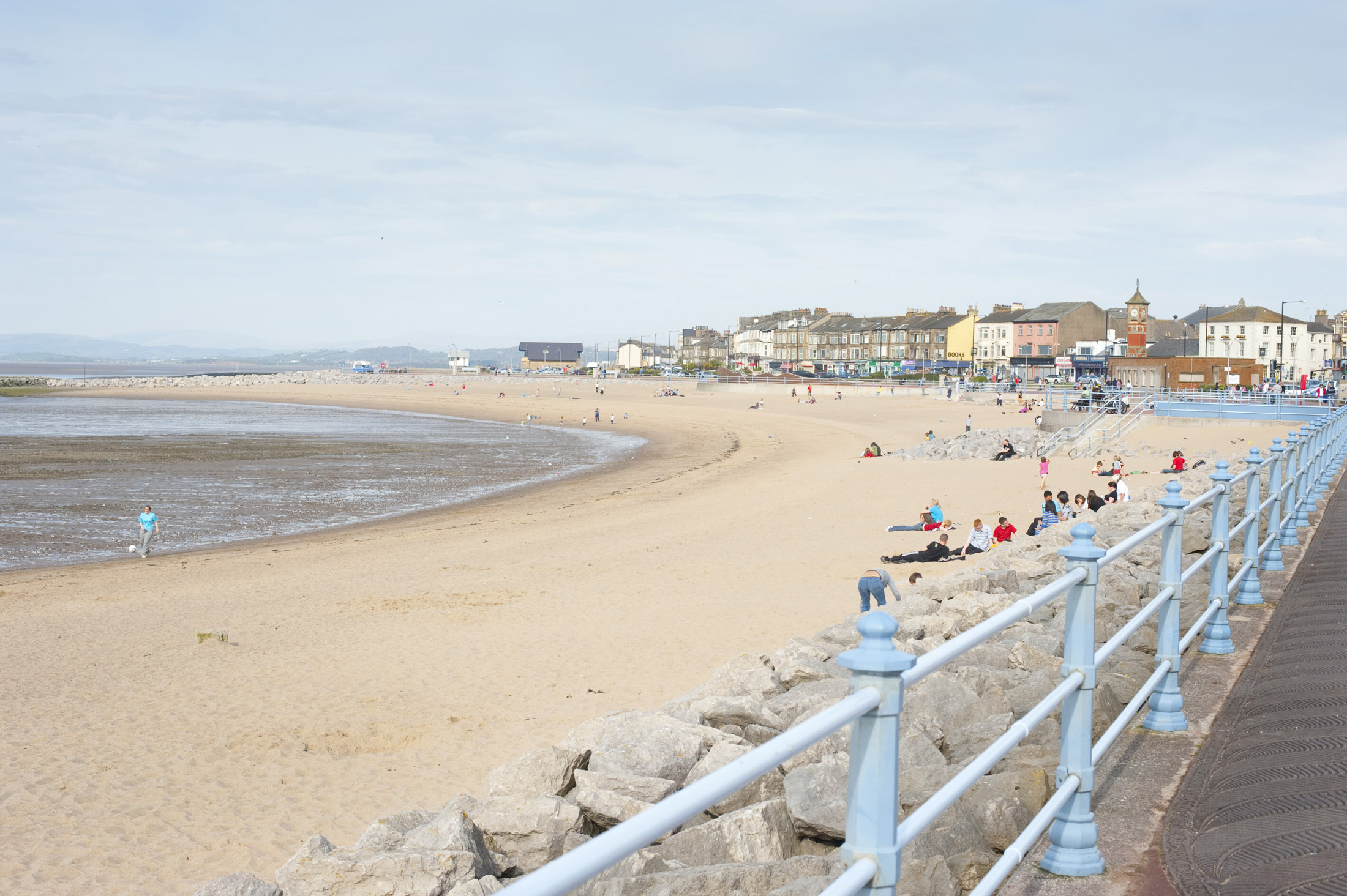 promenade and beach front at morecambe