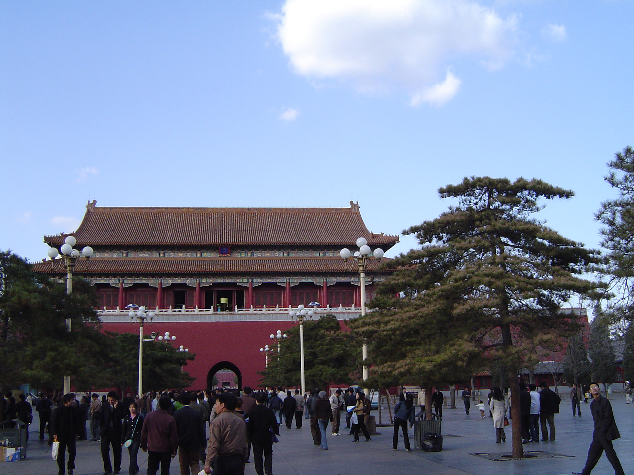 Random Visitors at Famous Architectural Forbidden City, a Chinese Imperial Palace, Located in Beijing China