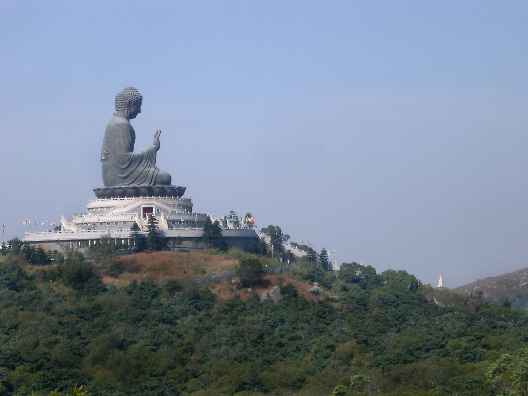 Tian Tan Big Buddha on Hilltop at Ngong Ping, Lantau Island, Hong Kong, China