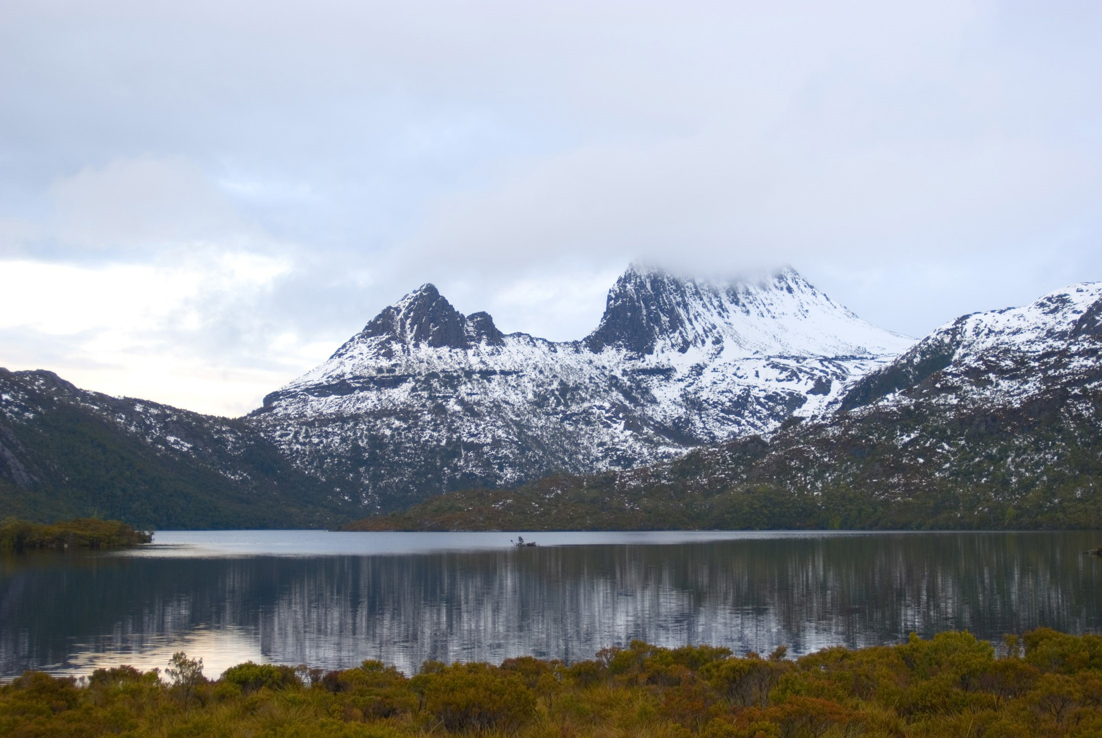 Cradle mountain with a covering of snow, Cradle Mountain-Lake St Clair National Park