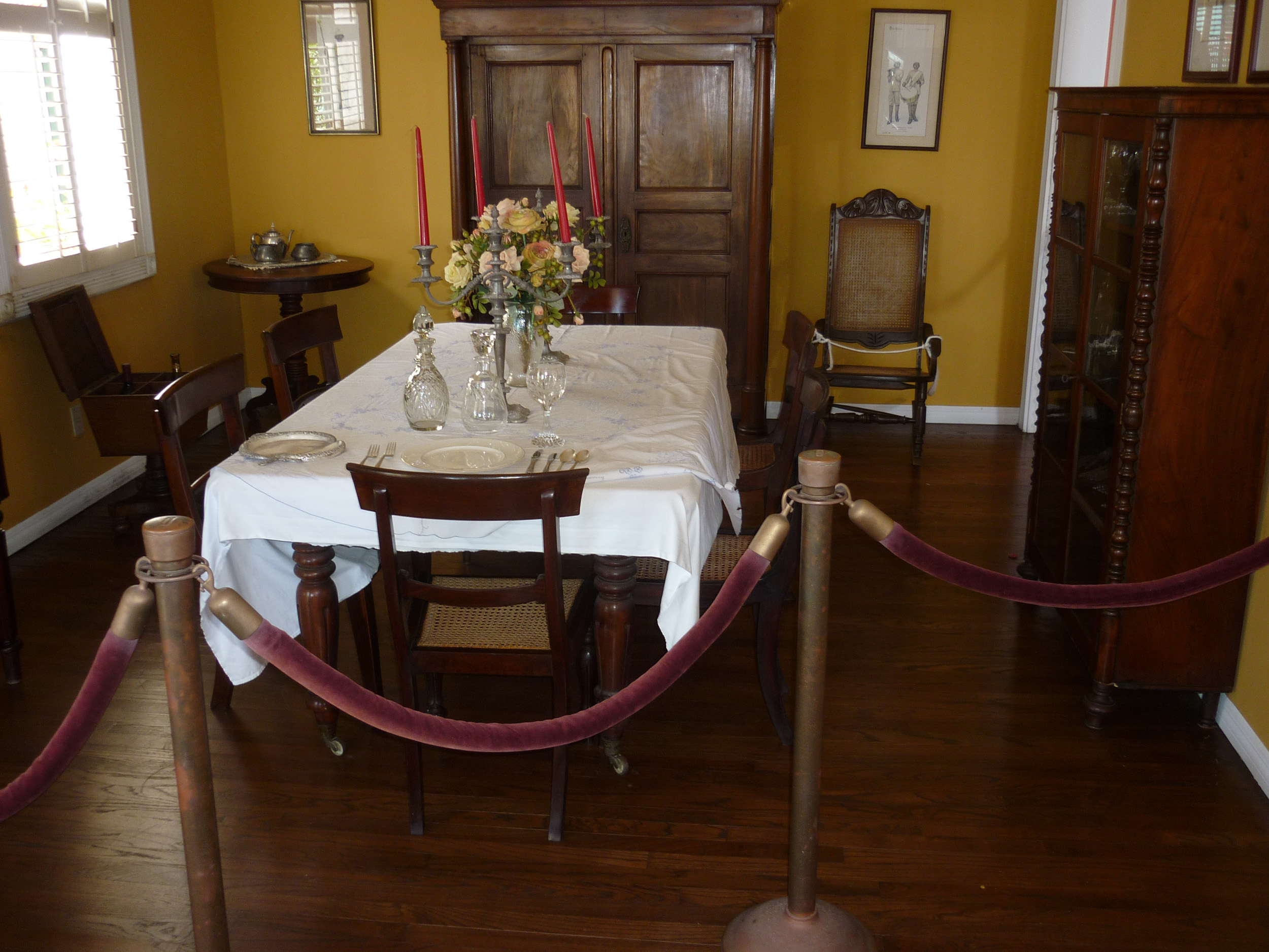 interior of a dining room in a heritage building, st thomas, us virgin islands